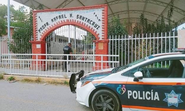 Refuerzan seguridad en escuelas de Pachuca
