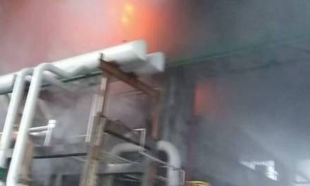 Se incendia complejo petroquímico de PEMEX