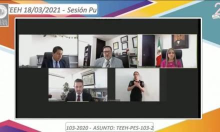TEEH aprueba amonestaciones para excandidato a presidente municipal y para alcaldesa de Apan