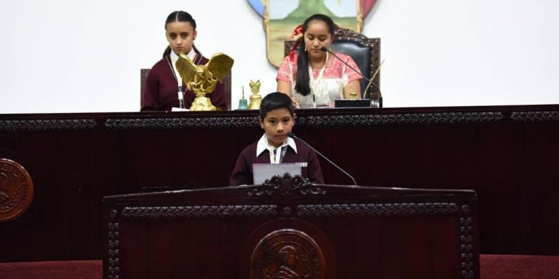 Congreso local alista Parlamento Infantil 2021