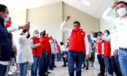 Dirigencia del PRI fortalece campaña de aspirantes en el altiplano