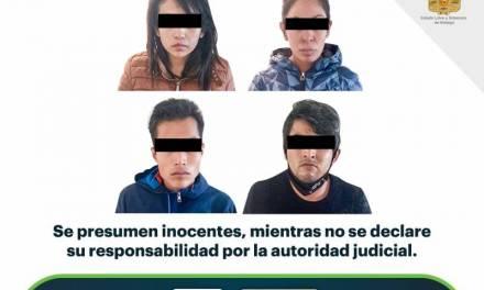 Detienen a cuatro individuos por presunto robo con violencia en un domicilio