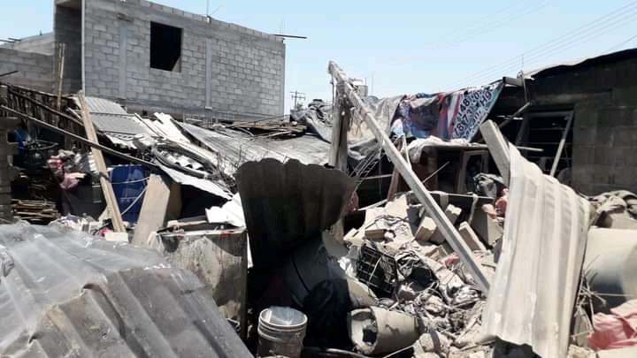 Seis heridos tras explosión en vivienda de Tlaxcoapan