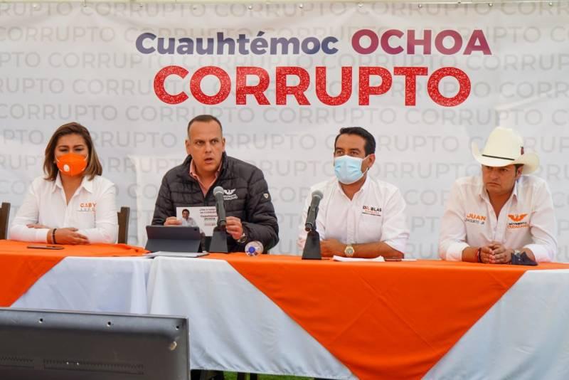 MC denunciará a Cuahutémoc Ochoa y actos de Pedro Porras