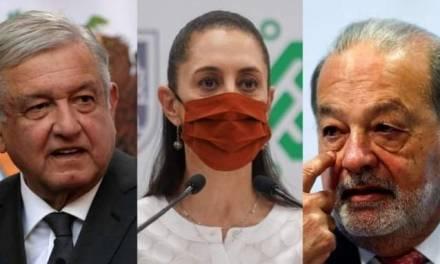 Claudia Sheinbaum evita hacer declaraciones sobre su reunión con AMLO y Slim