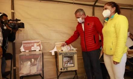 Sergio Baños exhorta a votar de manera pacífica y ordenada