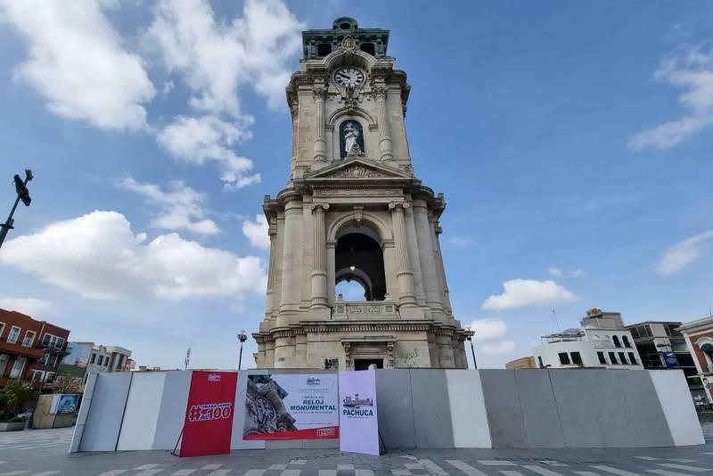 Inician trabajos de restauración del Reloj Monumental
