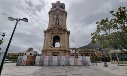 Realizan pintas en vallas del Reloj de Pachuca