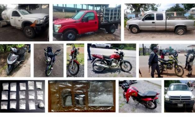 Aseguran 12 vehículos y a personas relacionadas con presunto narcomenudeo