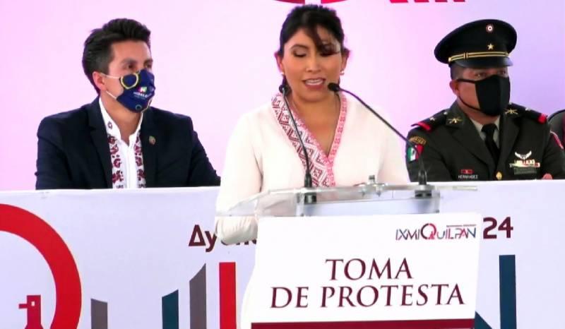 Toman protesta de ley integrantes de las nuevas asambleas de los municipios de Ixmiquilpan y Acaxochitlán