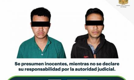 Aseguran a 2 por narcomenudeo en Pachuca