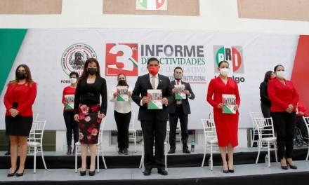 Diputados priistas entregan tercer informe de actividades