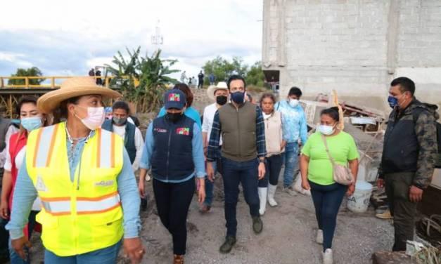 Recorre Fayad zonas afectadas en Ixmiquilpan