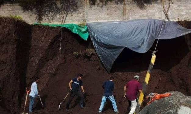 Derrumbe en Tlanchinol deja 2 hombres fallecidos