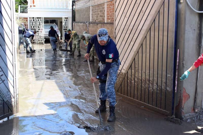 350 elementos de la SSPH y 72 unidades de auxilio laboran en región afectada por inundaciones