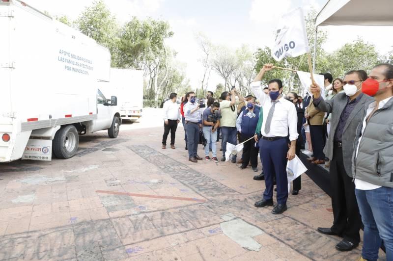Envía Gobierno estatal a Tula apoyo de la población