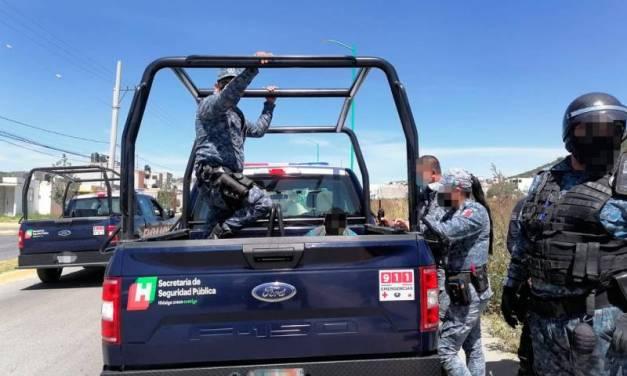 Asegura SSP Hidalgo a 3 individuos relacionados con actividades delictivas