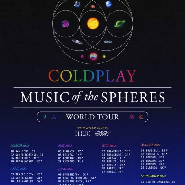 Coldplay anuncia regreso a México en 2022